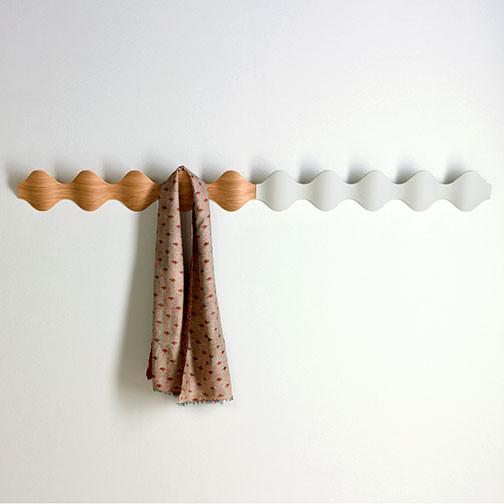 Magnuson Ona Coat Rack - Illustration of Continuation using Oak and White Finishes