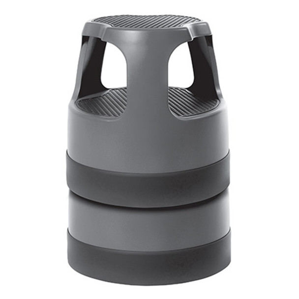 Stacked Gray Cramer Scooter Step Stools