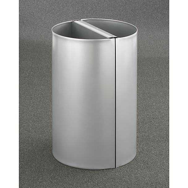 2 Glaro Profile Half Round Open Top Receptacles -1896-SA, finished in Satin Aluminum, Back to Back