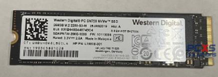 HP HP SSD 256GB 3.3V-2.8A M.2 2280-S3-M - L18838-001