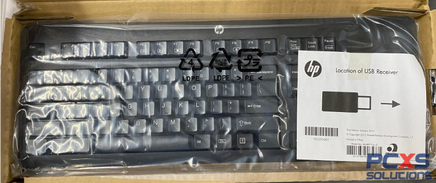 HP USB wireless keyboard - With RF dongle (Jack Black color) - Supports Windows 8 - 724722-001