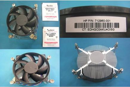 HP Processor fan/heat sink assembly - For HP EliteDesk Microtower (MT) PC (712960-001) - 727142-001