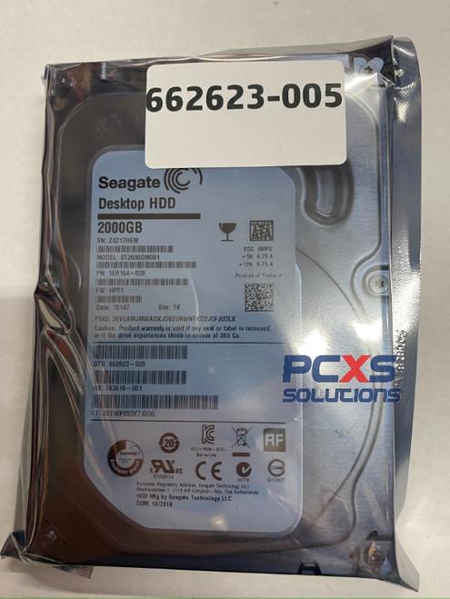 "HP 2TB 7.2K RPM 64MB Cache SATA 3.5"" Hard Drive - 662623-005"