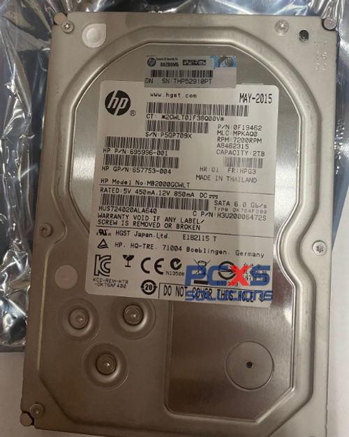 HP HDD 2TB 7.2K SATA 6G 3.5-HTC- 695996-001