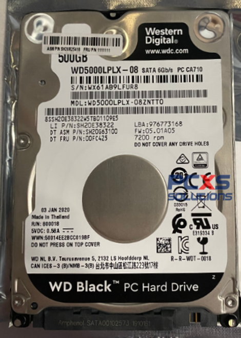 HP 500GB 7200RPM SATA 6GBPS 2.5-INCH HDD  - 00FC425