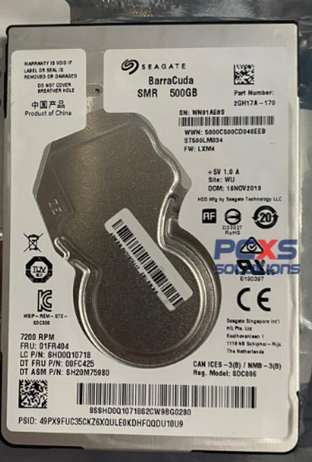 HP Seagate Rosewood X ST500LM034 500GB 2.5 SATA 7mm 7200rpm HDD - 01FR404