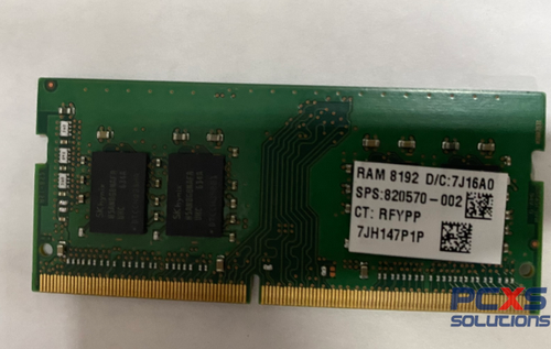HP 8GB PC4 SoDimm 1.2V Dual Rank Memory Module - 820570-002