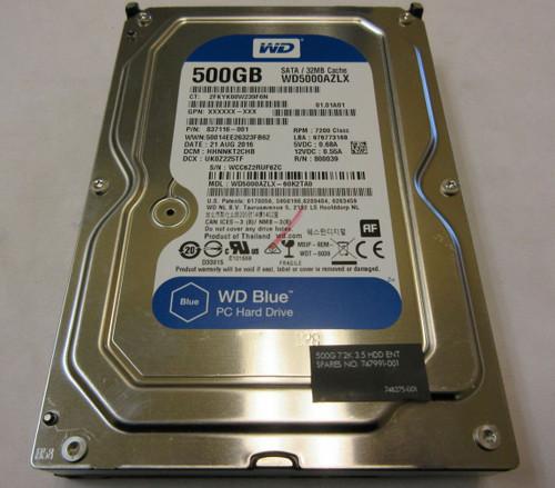 HP ORIGINAL 500GB SATA 7200RPM 2.5 9.5MM HDD - 837116-001