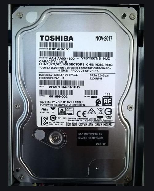 HP ORIGINAL 500GB SATA 7200RPM 2.5 9.5MM HDD - 912757-001