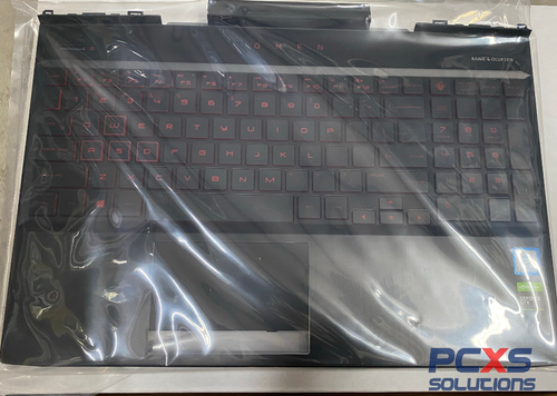 HP TOP COVER + Keyboard N17P -2 zone lighting Dragon Red legend + Red  backlight - OMEN BY HP LAPTOP 15-DC - L24369-001
