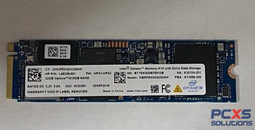 HP SSD 512GB PCIe NVMe+SSD 32GB 3D XP - L51797-001