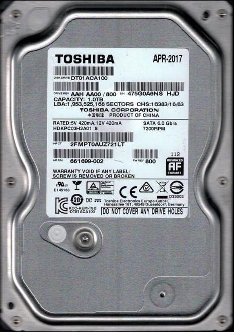 1TB 7.2K SATA 6G 3.5 HDD - 661699-002
