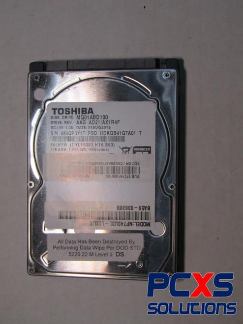 Toshiba Mq01abd 1 Tb 2.5 Internal Hard Drive - Sata - 5400 Rpm - 8 Mb Buffer - MQ01ABD100