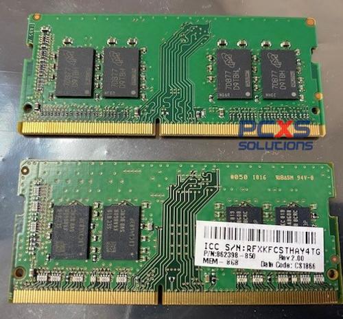HP 8GB, 2400MHz, PC4-17000, 1.2v DDR4 SODIMM - 862398-850
