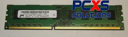 Micron 2GB PC3-10600 DDR3-1333MHz non-ECC Unbuffered CL9 240-Pin DIMM Dual Rank Memory Module - MT16JTF25664AZ-1G4F1