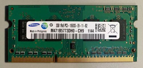 SAMSUNG 2GB DDR3 1333MHZ PC3-10600 204-PIN SODIMM - M471B5773DH0-CH9