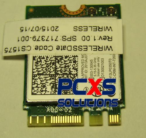 Intel Dual Band Wireless-N 7260AN 802.11 a/b/g/n (2x2) combination WiFi and BlueTooth 4.0 WLAN m... - 717379-001