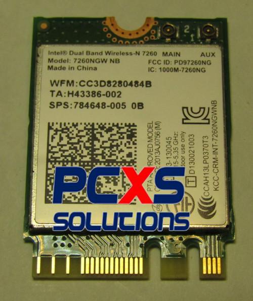 7260NGW Intel® Dual Band Wireless-AC 7260 802.11ac, Dual Band, 2x2 Wi-Fi + Bluetooth 4.0 - 784648-005