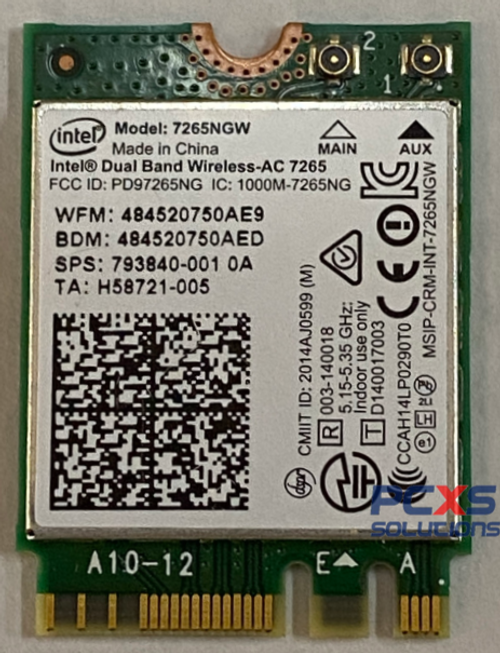 HP Intel Dual Band Wireless-AC 7265 802.11 a - 793840-001