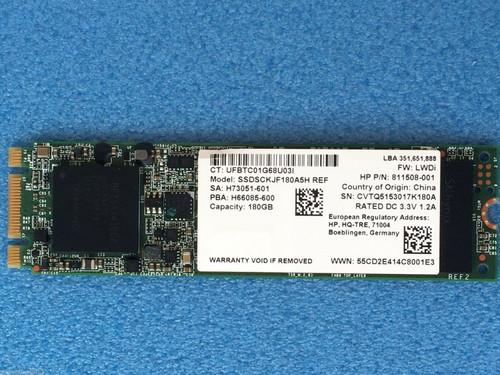 HP intel pro2500 SSDSCKJF180A5H 180GB SSD M.2 NGFF (SATA) - 811508-001