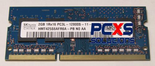 Memory - SODIMM, 2GB, PC3-12800, CL11, dPC - 698655-154