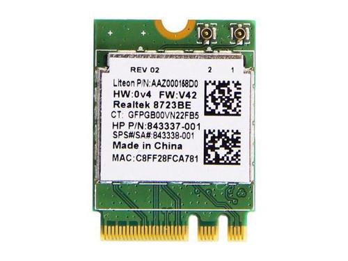 HP Realtek RTL8723BE-VB 802.11b/g/n 1x1 Wi-Fi + Bluetooth 4.0 combination WLAN adapter  - 843338-001