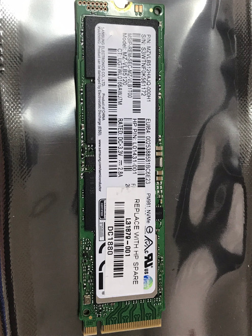 HP Solid-state drive 512GB PCIe NVMe TLC - L31879-001