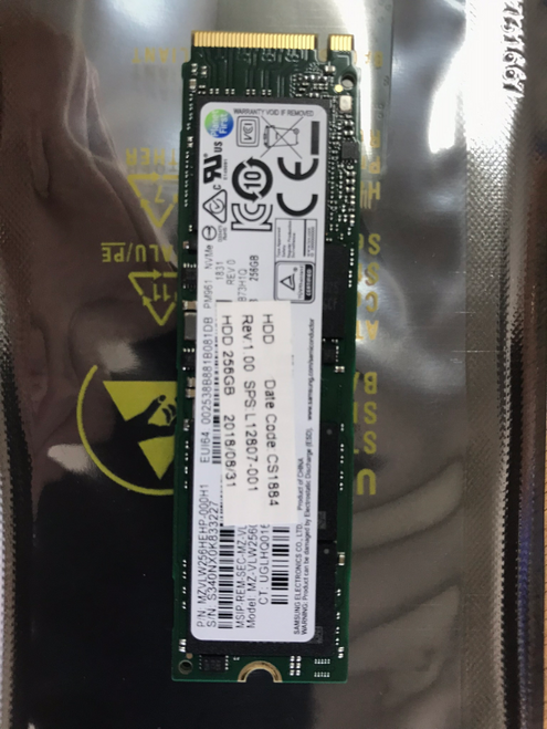 HP Solid-state drive 256GB PCIe NVMe TLC - L12807-001