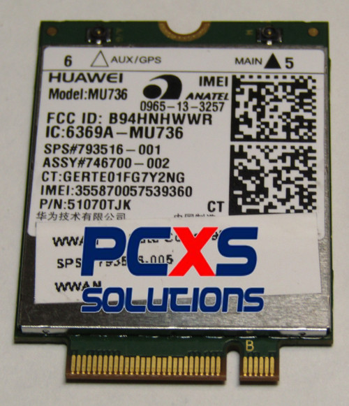hs3110 HSPA+ Mobile Broadband WWAN module - 793516-005