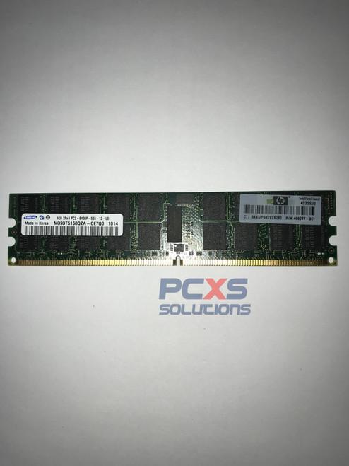 HP 4GB, 667MHz, PC2-5300R, DDR2, dual-rank x4, 1.80V, registered dual in-line memory module (RDIMM) BL260c/BL165P/BL465/DL365/BL465 G5 - 432670-001