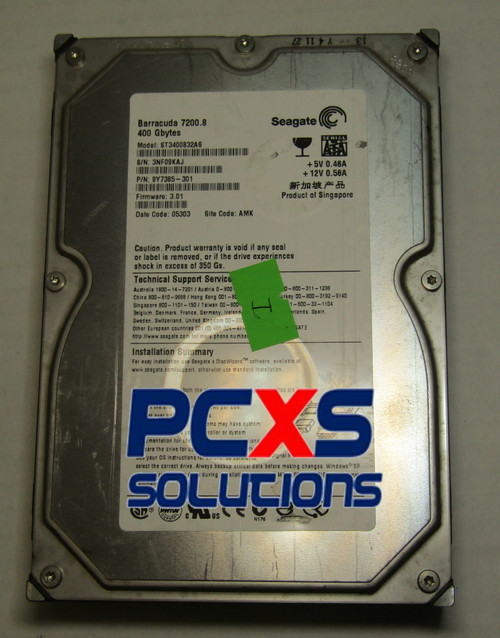 Seagate 400GB SATA 3.5 Hard Drive - 9Y7385-301