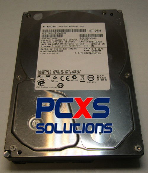 Hitachi 3.5 500GB 7200RPM SATA - 0F11000