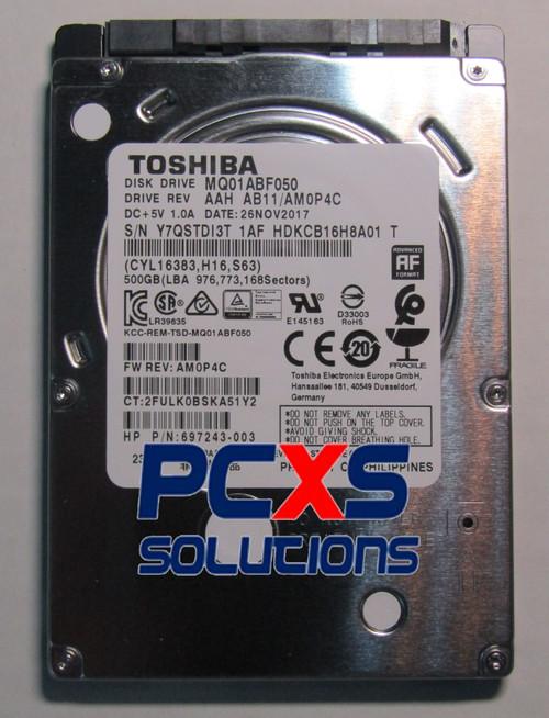 HDD,500GB,5400RPM,7MM,TSB AQUA B SLIM - 697243-003