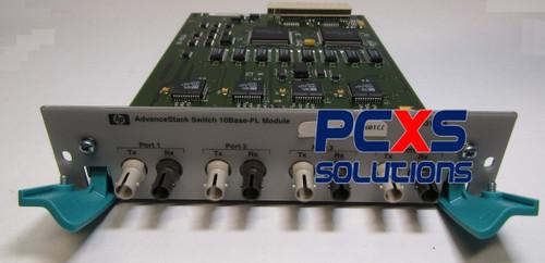 AdvanceStack expansion module assembly - Has four fixed fiber-optic Tx/Rx dual connectors (10Bas... - J3109-69001