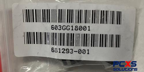 Black Rubber Set of 4 Caps - 681293-001