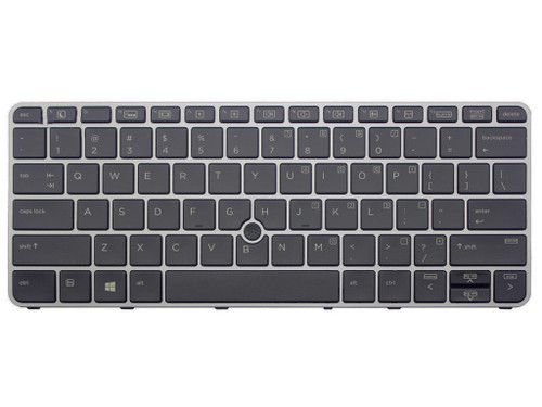HP SPS-KEYBOARD BACKLIT W/POINT STICK US elitebook 820 G3/G4 725 G3 / G4  with silver Frame - 826630-001