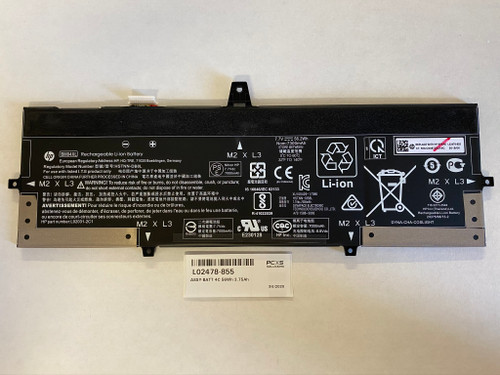 HP ASSY-BATT 4C 56Wh 3.75Ah LI BM04056XL-PL Elitebook x360 1030 G3 - L02478-855