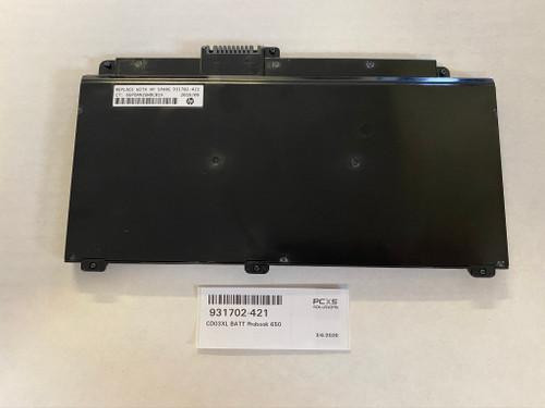 HP CD03XL BATT Probook 650 G4 / 645 G4 - 931702-421