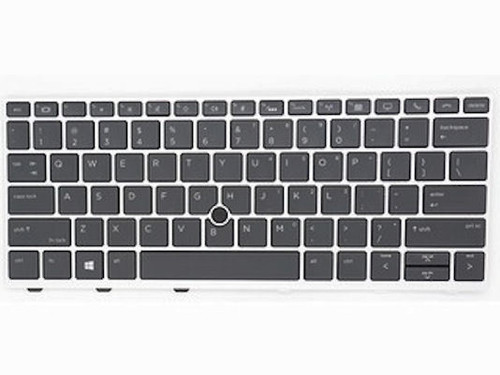 HP Backlit privacy keyboard with point-stick (United States) Elitebook 830 G5 / 735 G5 - L15500-001
