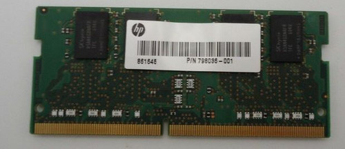 HP Memory - SODIMM, 4GB, PC4-17000, CL15, DDR4 Eliteone 800  g2, HP ENVY CURVED 34 - 798036-001