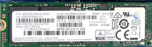 HP 512GB M.2 2280 PM981 PCIe Gen3x4 TLC SS  -  L01431-002
