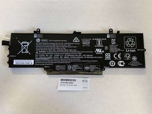 HP ASSY-BATT 6C 67Whr 2.9Ah LI BE06067XL-PL Elitebook 1040 G4 - 918180-855