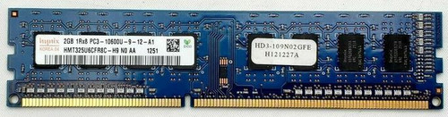 HYNIX 2GB PC3-10600U DDR3 MEMORY MODULE - HMT325U6BFR8C-H9