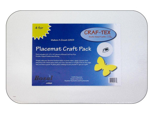 Bosal Craf-Tex Plus rectangle 13 x 18 in. Placemat 4 pc.