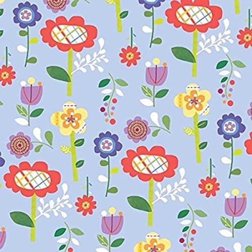 Mother Goose Tales by Jill McDonald Blue Funky Flowers