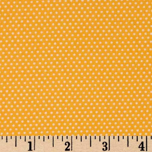 44'' Wide Everything But The Kitchen Sink Dots Yellow Fabric By The Yard