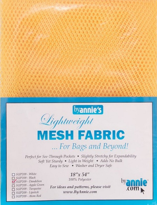 """By Annie PBA02031 Light Weight Mesh Fabric, 18"""" by 54"""", Dandelion"""