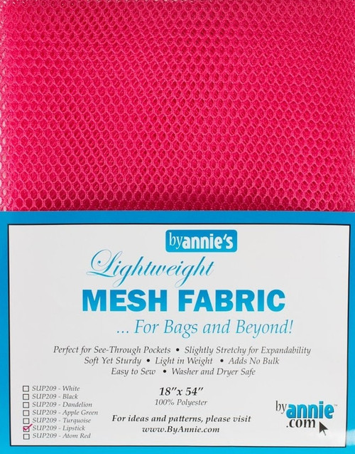 """By Annie PBA02032 Light Weight Mesh Fabric, 18"""" by 54"""", Lipstick"""
