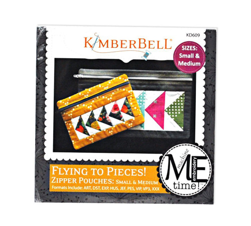 Large /& Jumbo Zipper Pouches KimberBell Flying to Pieces