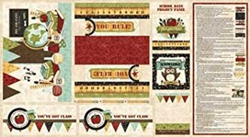 Red Rooster Fabrics School Days by Kelly Mueller: Project Panel #25549-MUL1